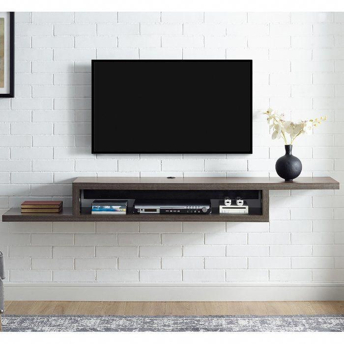 ascend 72 asymmetrical wall mounted tv component shelf rh pinterest com