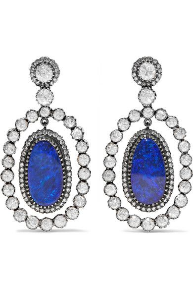 18-karat Gold, Diamond And Tanzanite Earring And Necklace Set - Silver Amrapali