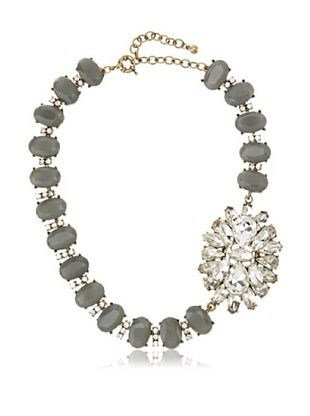 65% OFF Leslie Danzis Gray Confetti Jeweled Statement Necklace