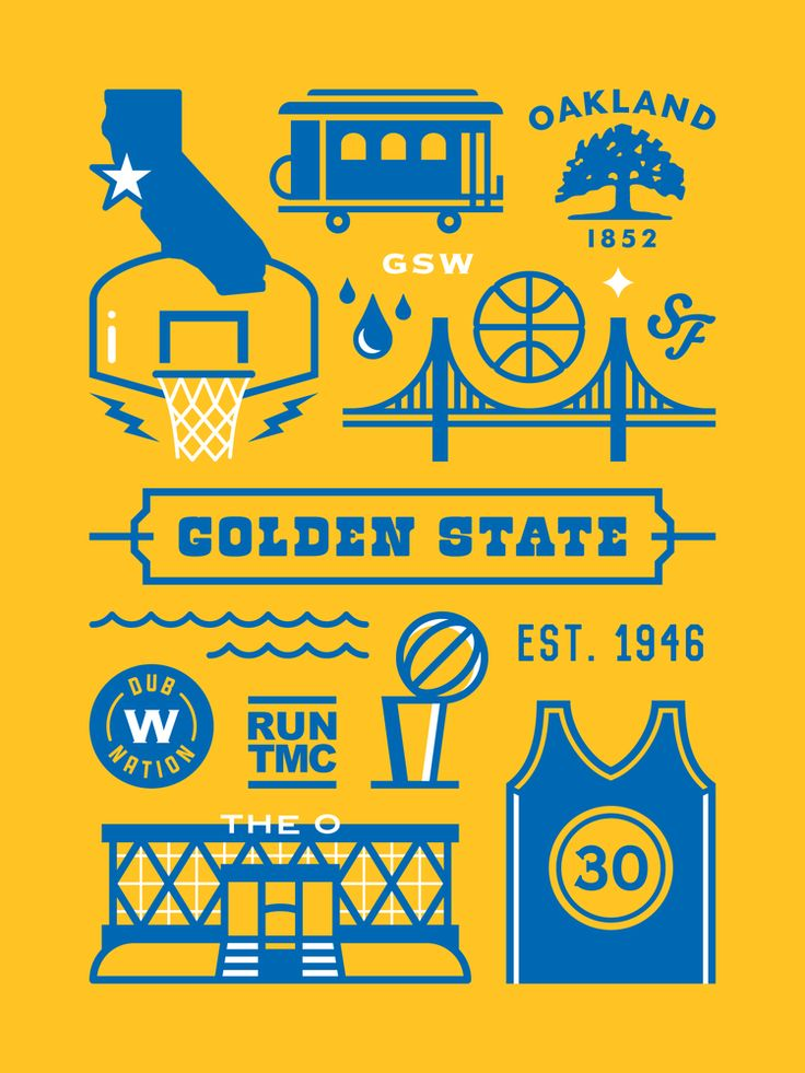 Golden State Warriors Dub Nation Poster
