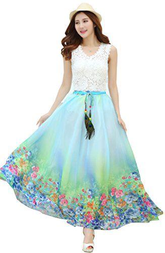 Izacu(TM) Womens Blending Chiffon Retro Long Maxi Skirt Vintage Dress (one size, 1025flower) Izacu http://www.amazon.com/dp/B00WFQR2LM/ref=cm_sw_r_pi_dp_vrSrvb063EKG8