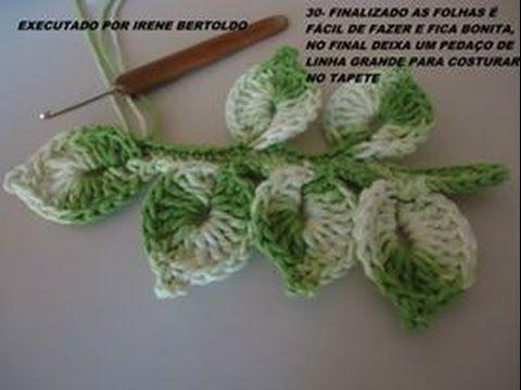 Vídeo aula Folha básica em crochê para aplicar em diversos trabalhos / C...