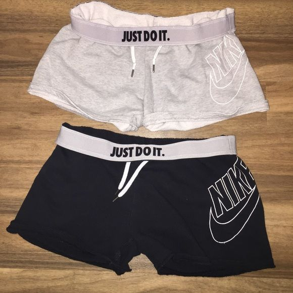 Nike Sweat shorts Rare (2 included w purchase) Ideas sweatpants shorts , perfect condition fits loose obviously. 50 $ each or both for 90 woman's small. Nike Shorts