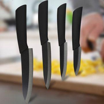 Nur US$13.49 Shop Schwarzes Blatt Keramisches Messer Set Chef Der Küche  Messer 4 Größen.