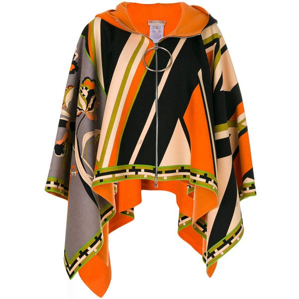 Emilio Pucci zipped multi-print jacket (€4.095) ❤ liked on Polyvore featuring outerwear, jackets, multicolour, zip jacket, multi colored jacket, multi coloured jacket, multi-color leather jackets and colorful jackets