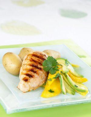 Kylling med avokado- og mangosalat | www.greteroede.no | www.greteroede.no