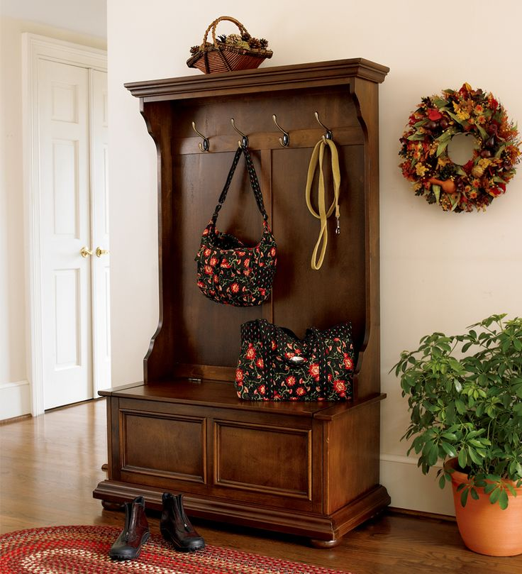 Homestead Hall Tree is a great way to contain the clutter and stay organized.