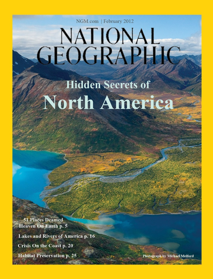 The front cover to my mock National Geographic magazine ...