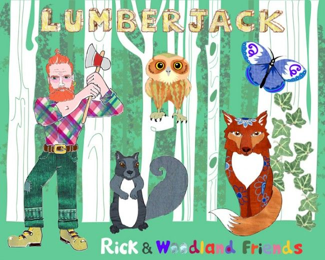 Lumberjack Rick and Woodland Friends by Alison Day Newsletter - for more info and creativity: http://alisonday.us8.list-manage.com/subscribe?u=f0ee923eb109c974f6e7d72c2&id=d783011ad5