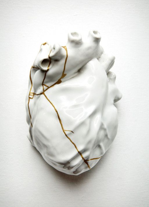 REPAIRED HEART kintsugi piece                                                                                                                                                      More