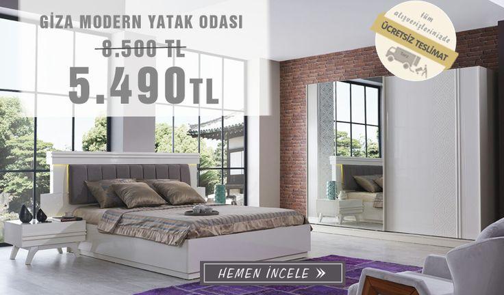 Şık Tasarım, Modern görünüm Giza Yatak odası Takımı Özel Fiyat Avantajı ile Tarz Mobilya Mağaza showroomda  !  Tarz Mobilya   Evinizin Yeni Tarzı '' O '' 0216 443 0 445  whatsapp : +090 532 722 47 57