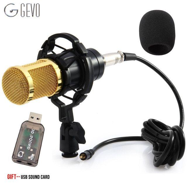 GEVO BM 800 Condenser Microphone For Computer Wired 3 5mm