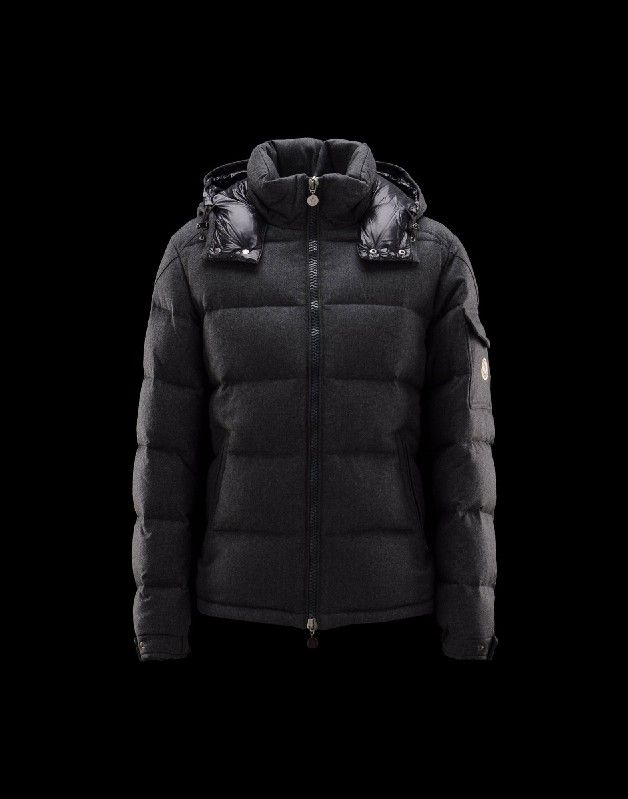jacken aus der schweiz, Jacket Moncler Montgenevre Herren Anorak Für Ihn Granitgrau Wolle 41249881TC outlet