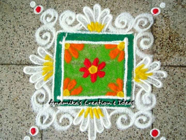 Square patterned Rangoli