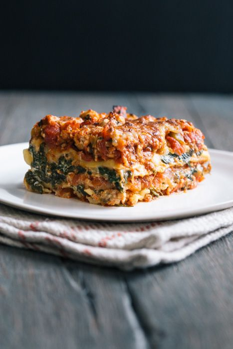 This was delicious! A perfect light lasagna, full of flavor and ready in about two hours. That includes making the sauce from scratch. It feels healthier too because it's packed with veggies. Spinach Turkey Lasagna