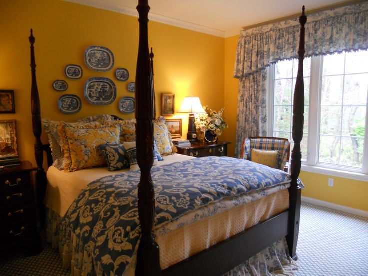 Blue And White Toile Bedroom: 1000+ Images About Blue & Yellow Bedroom Ideas On