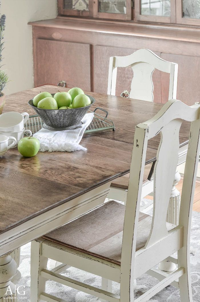Painted Dining Table And Chairs Farmhouse
