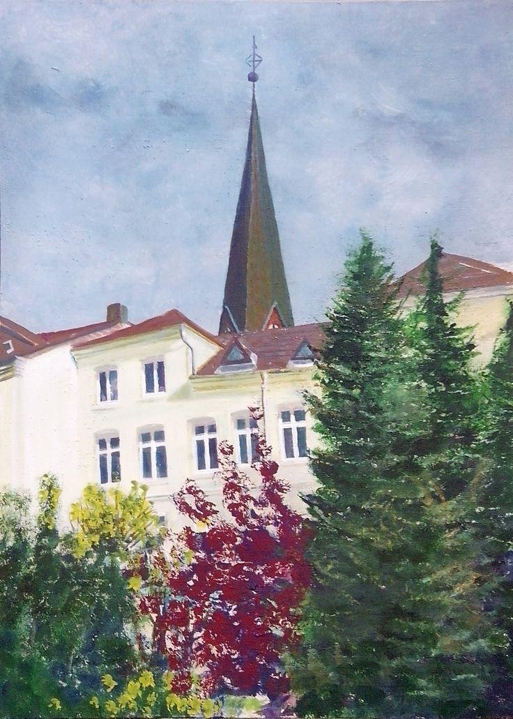 Flensburg St.-Jürgen II,  acryl on board,  70 x 50 cm,   2015 (finish 2017).  Making-of: https://youtu.be/CU5Irez7PD0