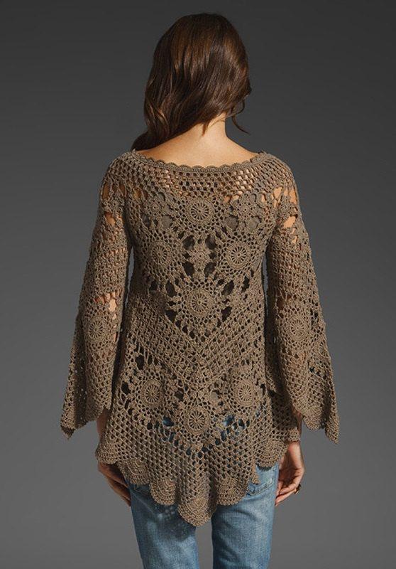 Crochet Blouses Free Patterns