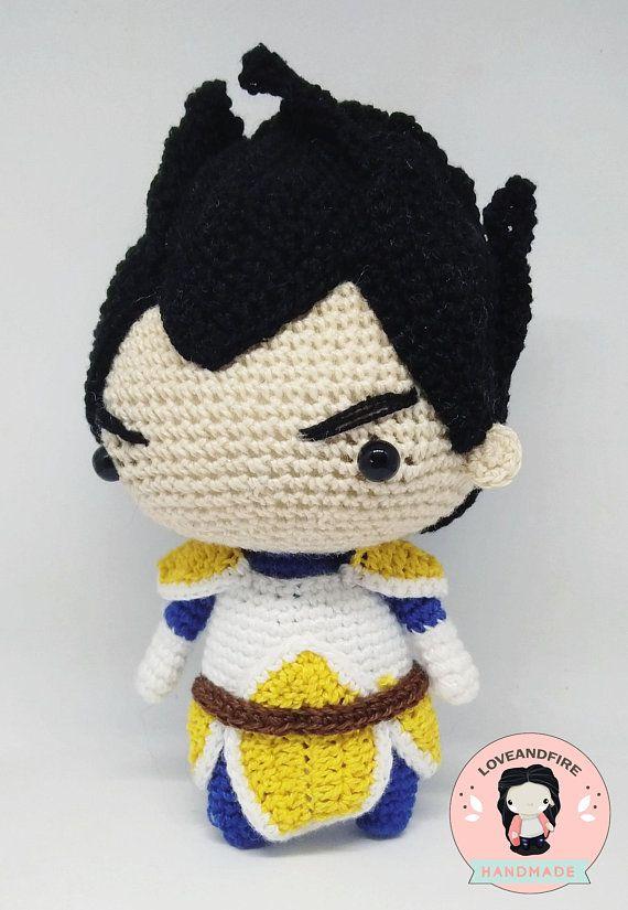 PATRÓN Vegeta bola de dragón amigurumi patrón crochet doll ...
