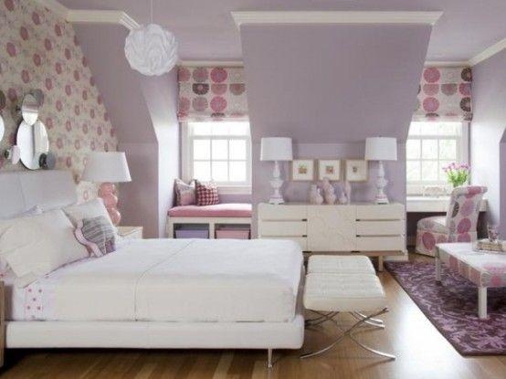 Viola Accenti nelle camere da letto - 51 Idee moda | DigsDigs