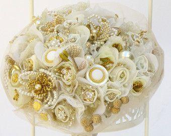 Jeweled bridal bouquet crystal bouquet bouquet da di carellya