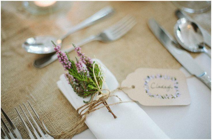 rustic leaves wedding napkin | Irish Millhouse Wedding : Rachel & Ben