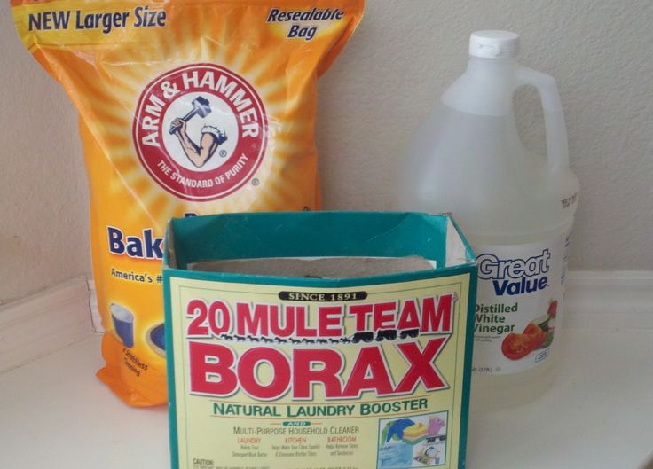 mix equal parts of borax and baking soda in a convenient container i used three cups of each. Black Bedroom Furniture Sets. Home Design Ideas