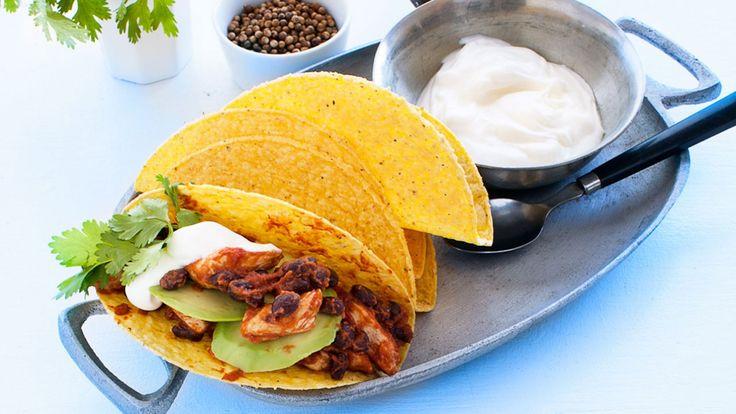 Tacos de poulet et de chili