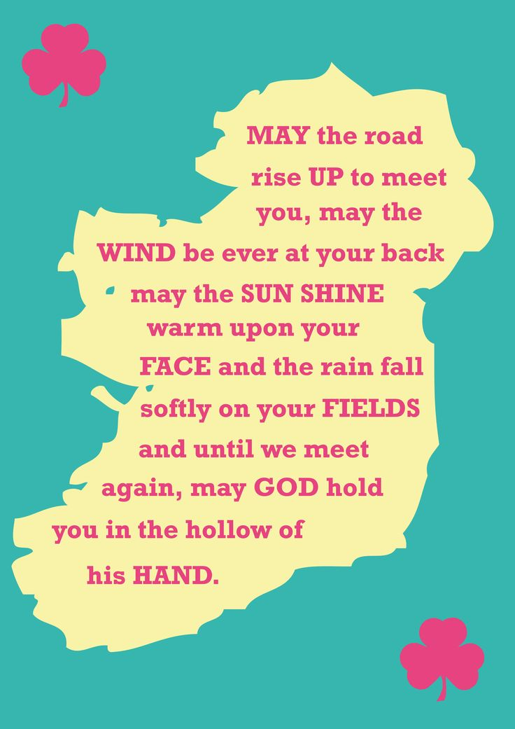A Friday morning Irish blessing to you for the weekend ahead. #Irish #FridayFeeling