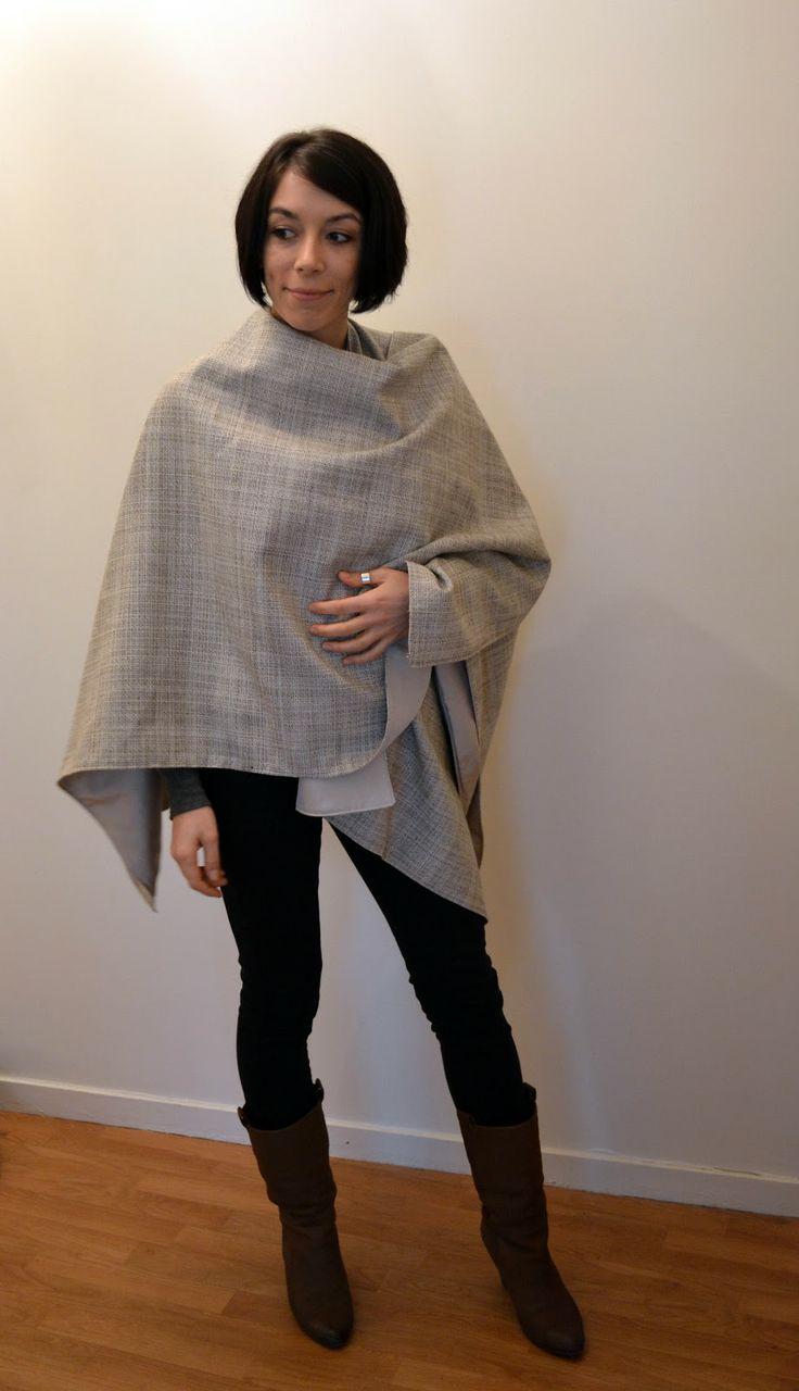 Funky Sunday: Tuto-couture: Le patron gratuit de la cape poncho