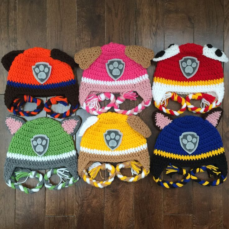 Paw Patrol crochet hats are new to my shop and can be made in any size! Paw Patrol is on a roll!