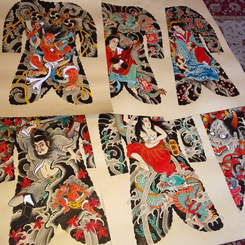 japanese tattoo physique go well with print – Google Search