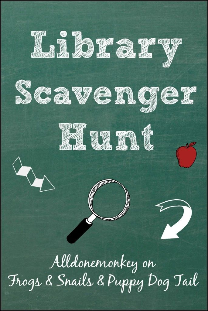 Library scavenger hunt to help young children explore all the library has to offer!