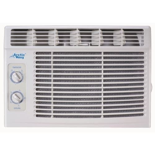 Arctic King AKW05CM51 5000 BTU 115 Volt Window Air Conditioner with Turn Knob Controls and Removable Filters, Silver steel