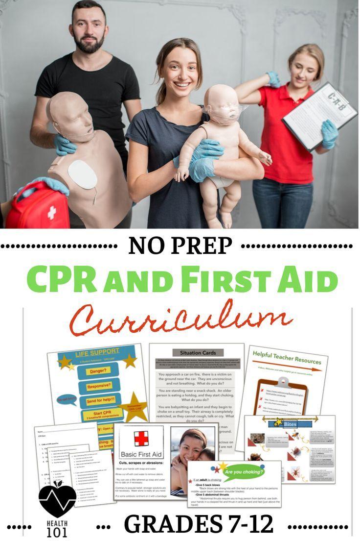 CPR Unit & First Aid Unit BUNDLE! FUN Skills Based