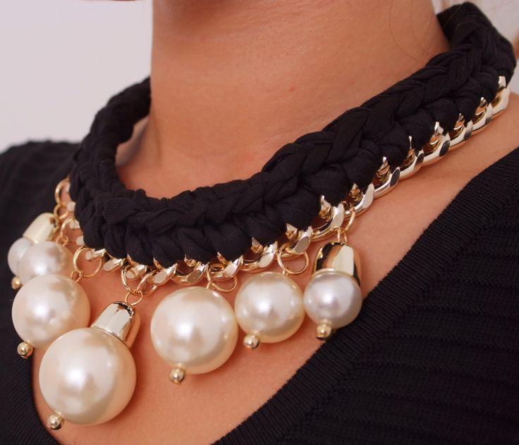 Collar trenzado perlas www.belleboheme.es