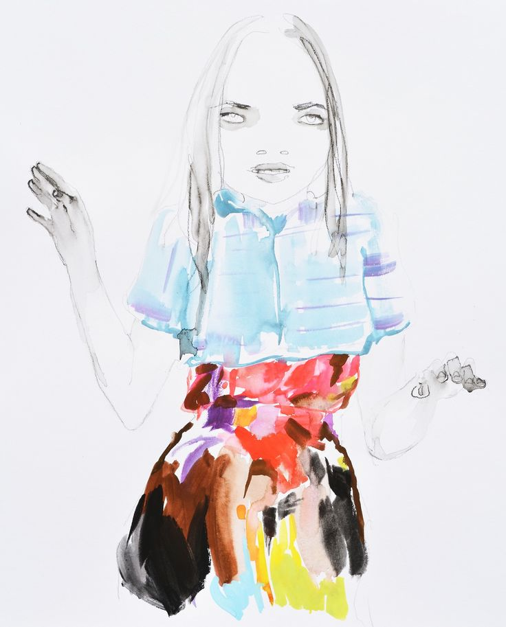 Modeconnect.com - Fashion Illustration of Chanel by Abbey McCulloch