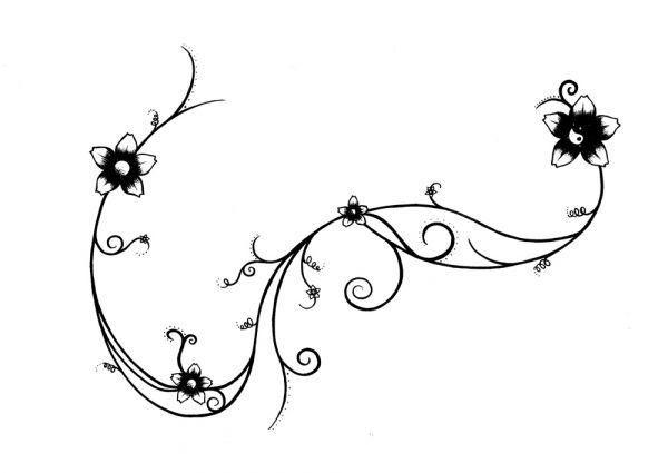 Plantillas Dibujos Tatuajes Rosas Negras Espinas Imagen ...