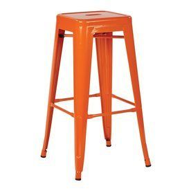 Office Star Set Of 4 Work Smart™ Patterson Orange 30.25-In Bar Stools Ptr3030a4-18