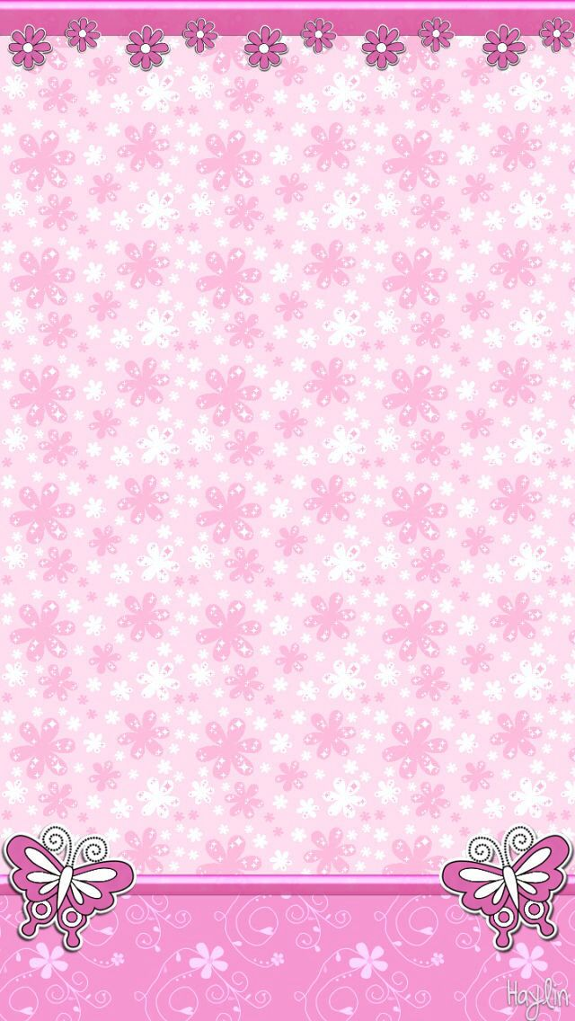 Pink vintage butterfly background - photo#41