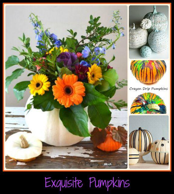 16 Exquisite Pumpkin Decorating Ideas   Pumpkin display