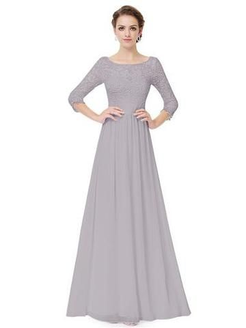 CELIA Dress - Silver Grey