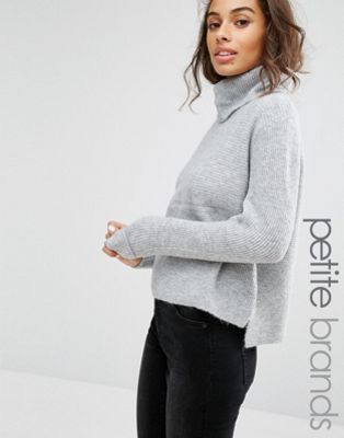 Miss Selfridge Petite Cowl Neck Slouch Jumper