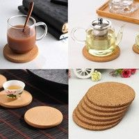 Wish | 5pcs Cork Placemats New Plain Coasters Creative Hot Round Coffee Tea Cup Mat Drink Wine Tablemats