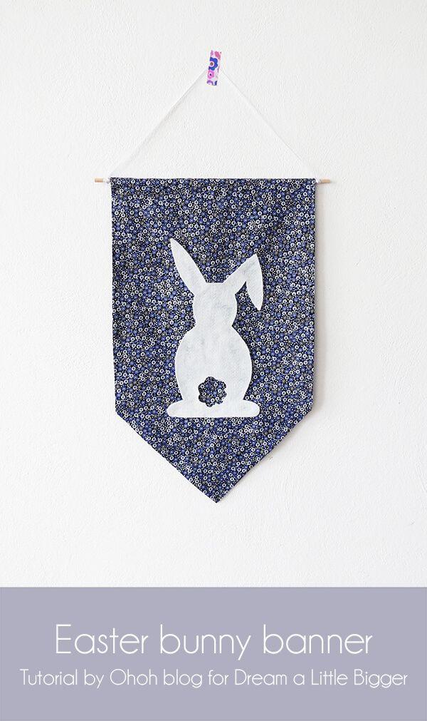 Easter bunny banner - Dream a Little Bigger