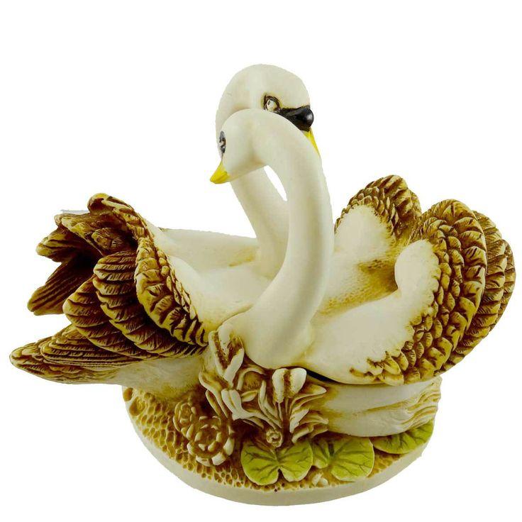 Harmony Kingdom Pillow Talk (Swans) Figurine