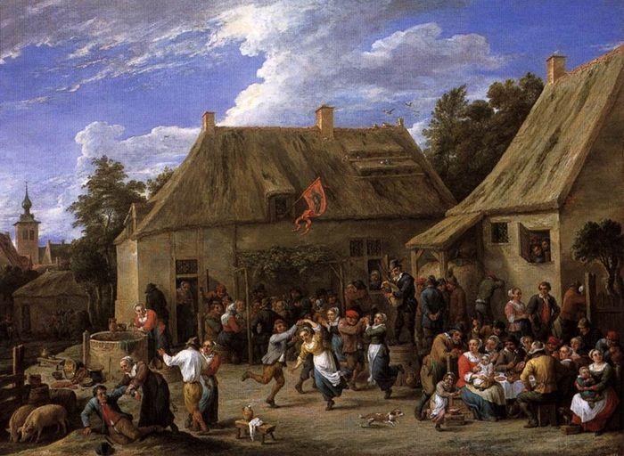 Давид Тенирс Младший (1610-1690) — Крестьянский праздник. 1665. Амстердам. Рейксмузеум.