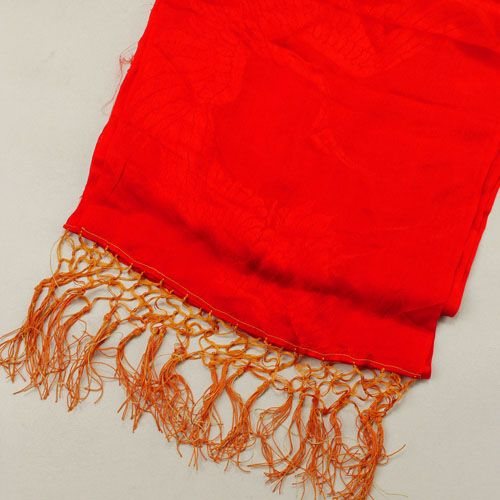 Shigoki cloth /【子供用】しごき/緋赤色吉祥の飛鶴柄/女児用/七五三