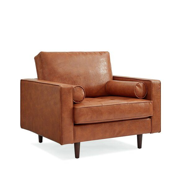 Bombay Genuine Leather Chair All Modern In 2020 Leather Chair Leather Armchair Brown Leather Armchair